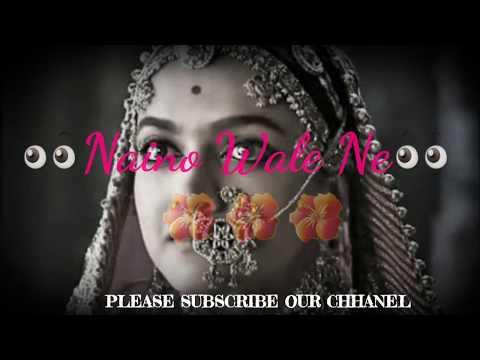 Nainowale Ne Ringtone Status   Padmavat Song Ringtone   Latest Whtasapp Status 2018 New Status 2018