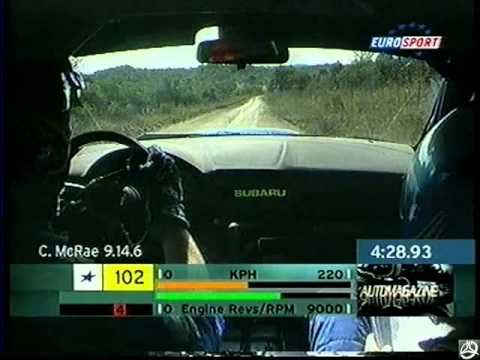 Rally - Camera Car - Richard Burns Subaru Impreza Wrc Rally Argentina 2001.avi