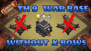 Top 2 Best TH9 War Base Without X Bow 2017 TH8 5 8 75 New War Base Clash Of Clans