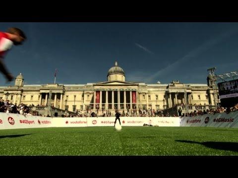 Vodafone Fastest Footballer Trafalgar Square