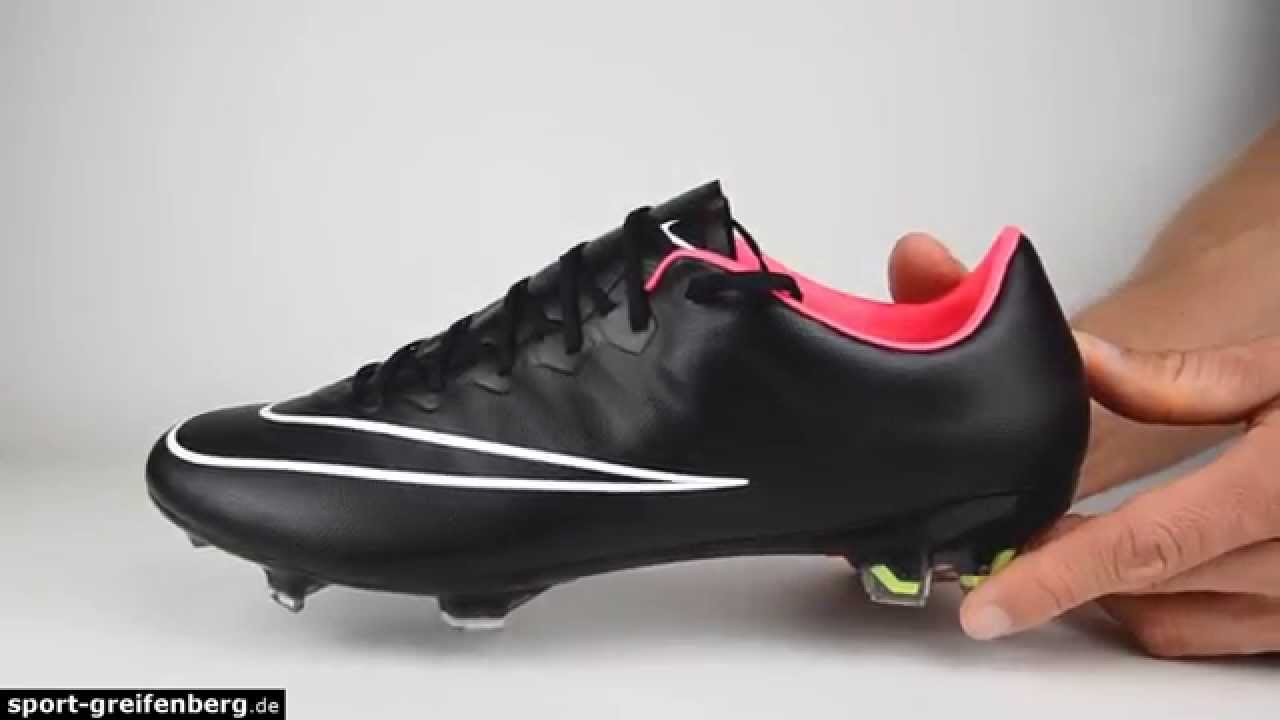 newest fbb75 94052 Nike Mercurial Vapor X FG Black Series