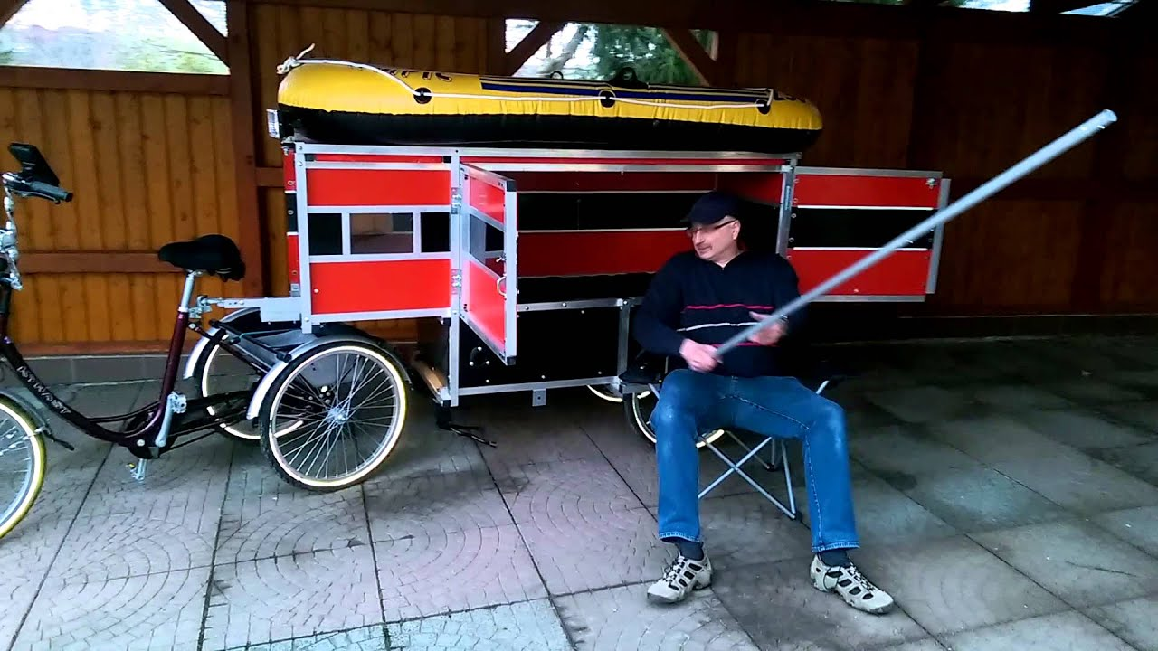 skowimog1 fahrradanh nger bike wohnwagen gespann youtube. Black Bedroom Furniture Sets. Home Design Ideas