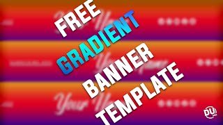 Free Gradient Banner Template #6 | D.U. Arts