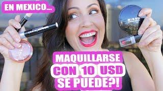 Maquillarse con 10 USD en México, SE PUEDE?! RETO Maquillaje COMPLETO por 172 Pesos - SandraCiresArt