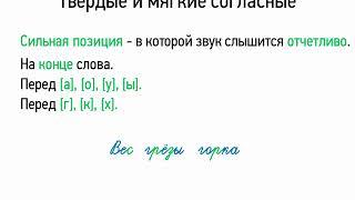 Твердые и мягкие согласные (5 класс, видеоурок-презентация)