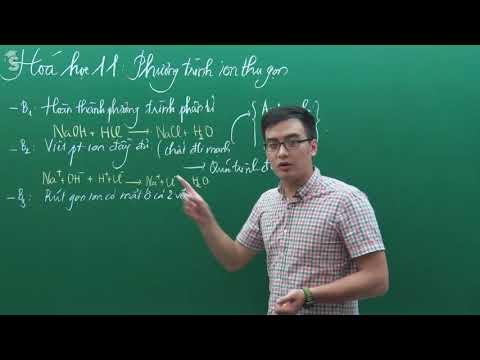 Phương trình ion thu gọn - Hóa Lớp 11 – Thầy Phạm Thanh Tùng