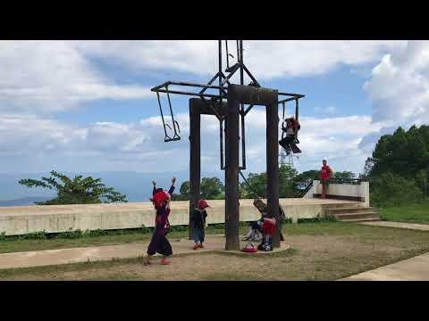 Kids on a swing, Northern Thailand