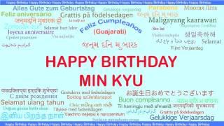 Min Kyu   Languages Idiomas - Happy Birthday