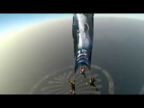 Robot 2.0 sky dive promotion for Audio Launch in Dubai | Shankar | Rajini Kanta | Amy Jackson
