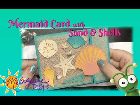 Mermaid Side Gatefold Card Images in Cricut Access