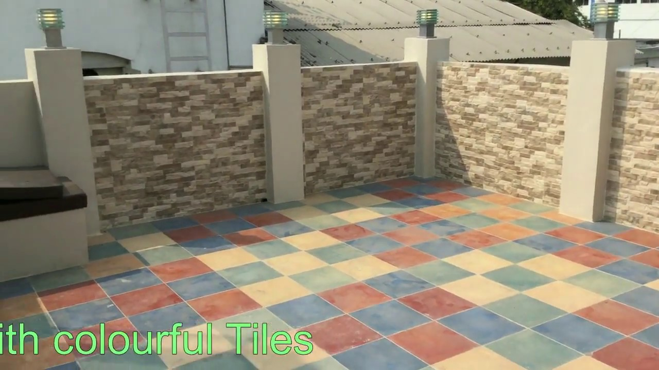 Terrace Tiles Design Ideas | Terrace Design Tour India - YouTube