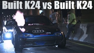 Fully Built K24 Hatch vs Fully Built K24 Coupe Heads up