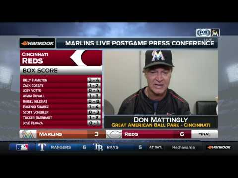 Don Mattingly -- Miami Marlins at Cincinnati Reds 07/23/2017