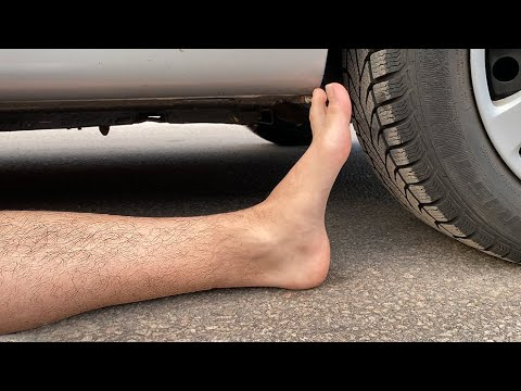 EXPERIMENT: CAR VS PLASTIC FOOT - Crushing Crunchy & Soft Things By Car!