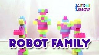 Robot Family Building Blocks for Children | Kids Building Blocks | Robo Family Block sets For Kids