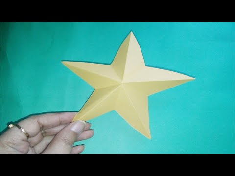 How To Make Simple DIY Paper Star | Origami Paper Craft Ideas | ZINAT Crafts