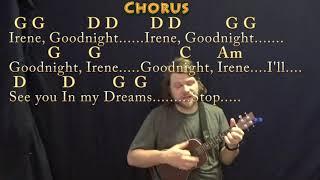 Goodnight, Irene (Traditional) Ukulele Cover Lesson in G with Chords/Lyrics