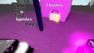 How To Find Legendary Bags (3 Locations) Roblox Parkour
