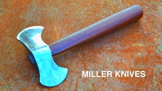 Forging a Double Headed Throwing Axe from a Hammer thumbnail