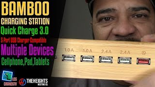 Bamboo Charging Station QC3.0 🔌 : LGTV Review