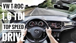 VW T-ROC 1.6 TDI (2019) | POV Drive on German Autobahn - Top Speed Drive