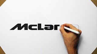 How To Draw McLaren P1 Logo - Speed Art Drawing Fan Art