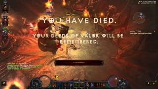 Diablo 3 - Hardcore - T9 - Witch Doctor - RIP!