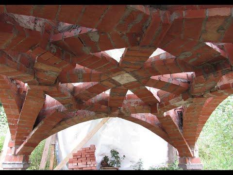 видео: В стиле Гауди - нервюрный свод цокольного этажа для работы с ноутом на природе.