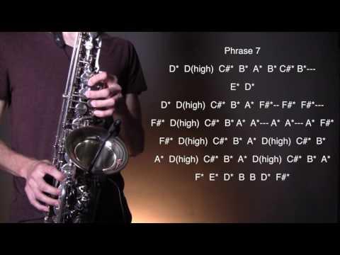 How to play Baker Street - Alto Sax