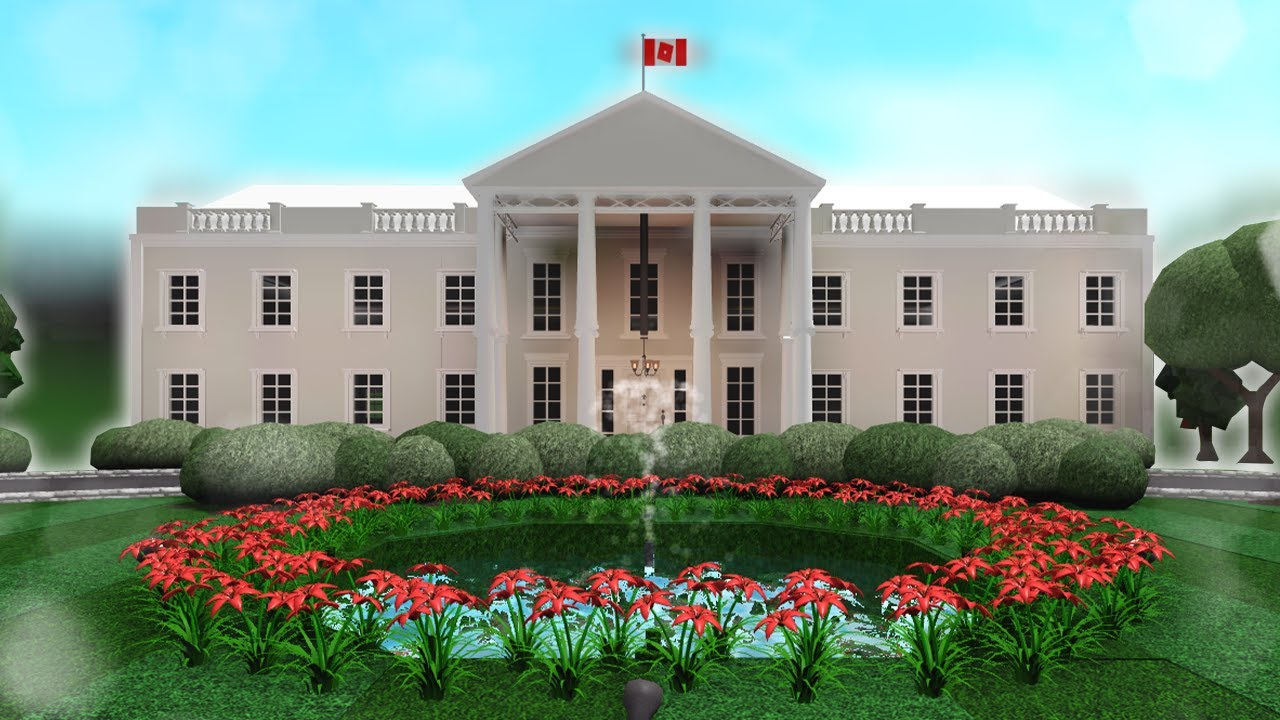 Building The White House In Bloxburg Youtube