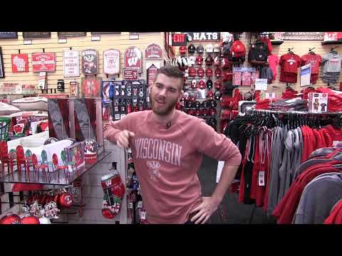 Former Badger Braces for Holidays at Wisconsin Store