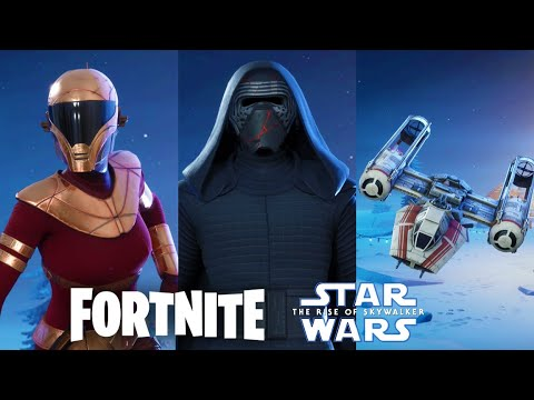 Fortnite Kylo Ren And Zorii Bliss Skin And Y-Wing Bomber Glider Preview!