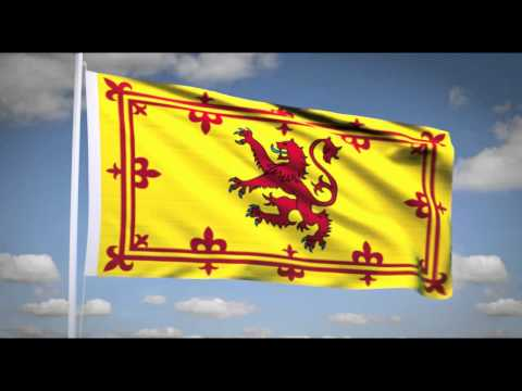 "National Anthem of Scotland (""Flower of Scotland"") Royal flag of Scotland"