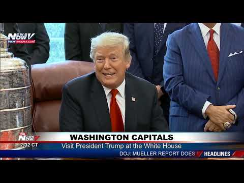 CAPS AT THE WHITE HOUSE: Meeting w/ President Trump to Celebrate 2018 Stanley Cup Championship