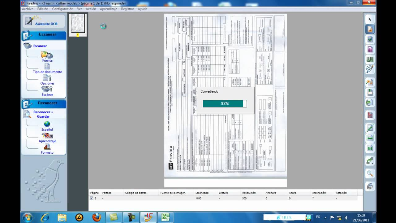 scan to excel  Scan to Excel - Readiris - YouTube