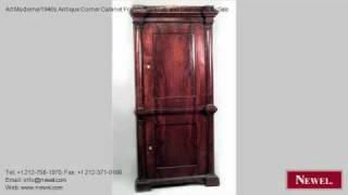 Art Moderne/1940s Antique Corner Cabinet French Cabinets