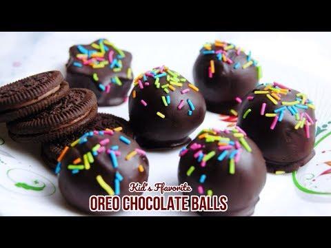 How To Make Oreo Chocolate Ball  | No Bake Oreo Ball | Kid's Recipe | Diwali Special Recipe - Hindi