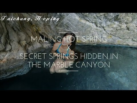 [Wild hot springs]secret springs hidden in the marble canyon-Maling hot  springs