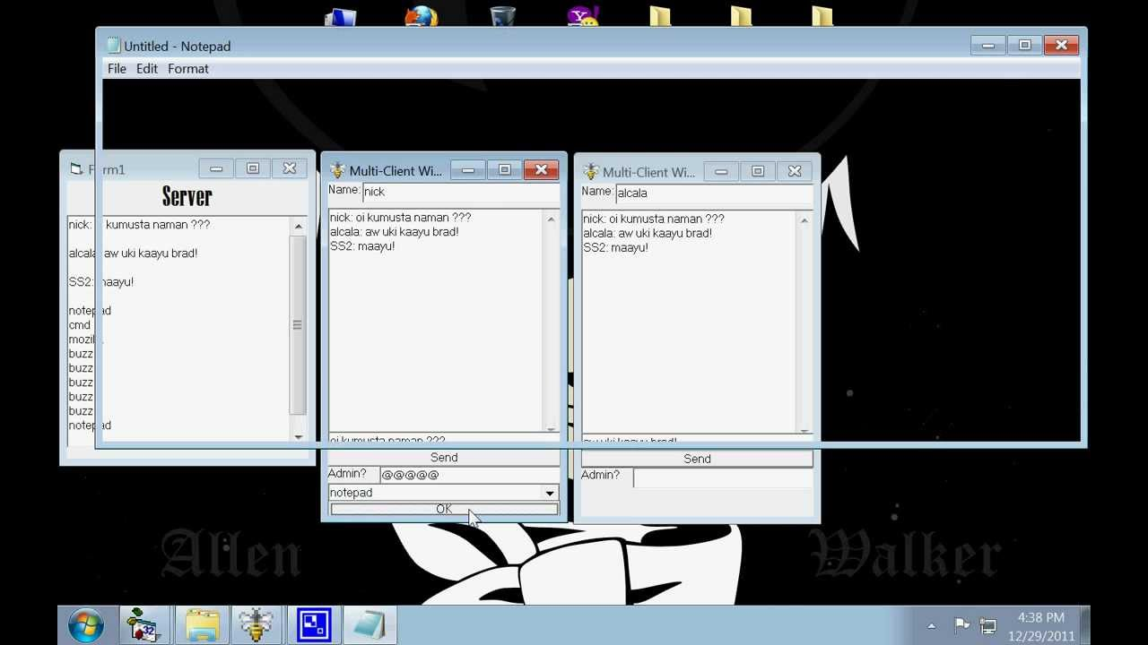 Visual Basic 6 0 Simple Multi-Client Chat that can Open Apps in Client