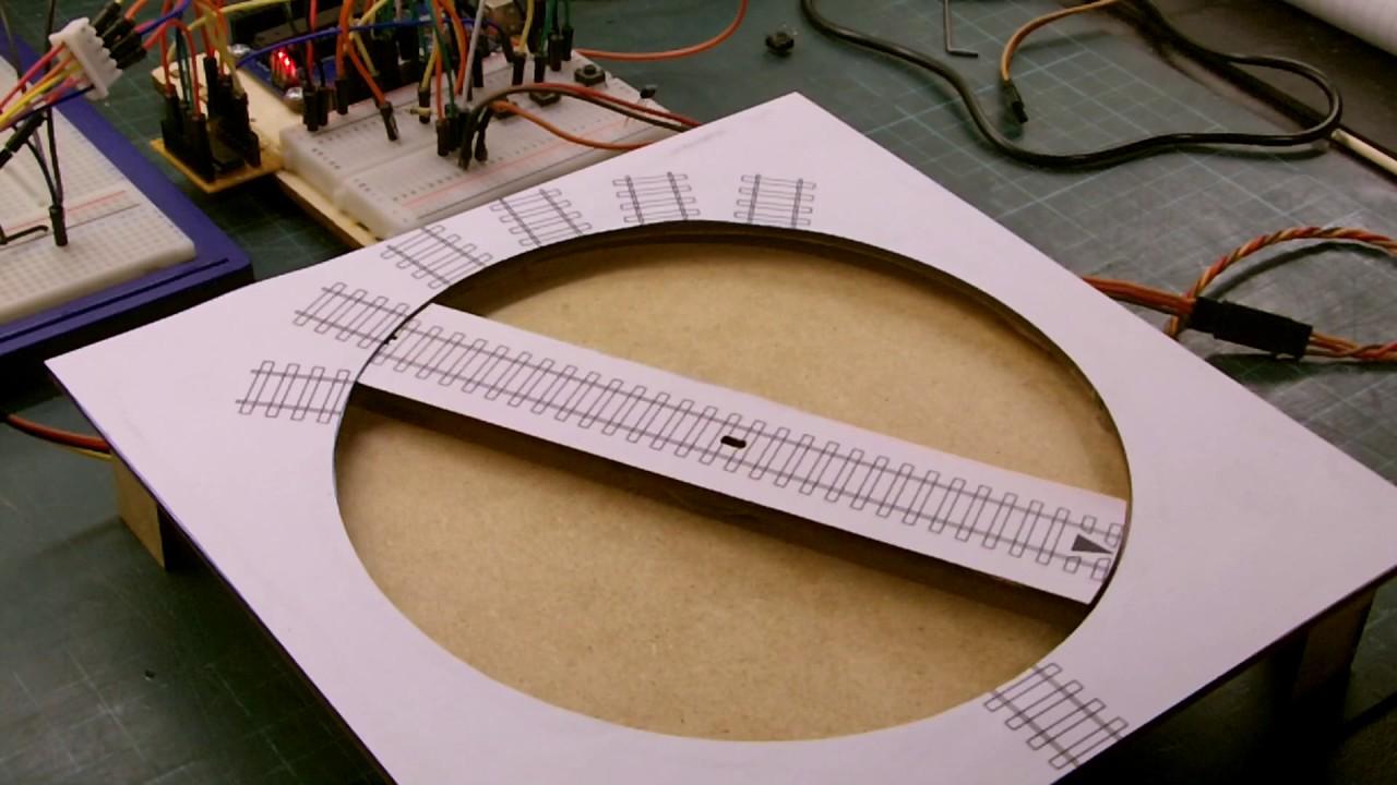 Arduino Uno Controlled Railway Turntable thus Far