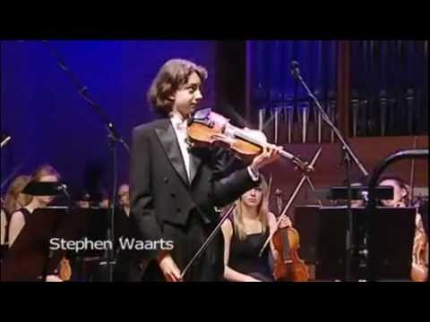 Stephen Waarts in the Junior Finals of the Menuhin Competition Oslo 2010