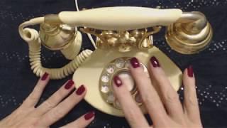 ASMR ~ Dialing 1980s Princess Phone (Whispered Intro)