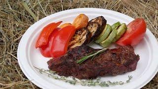 Мраморная говядина  Как приготовить на гриле с овощами