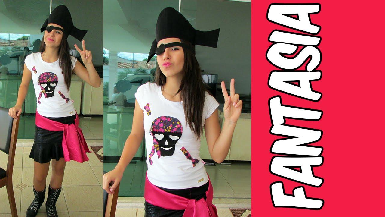 Como Fazer Uma Fantasia De Pirata Youtube