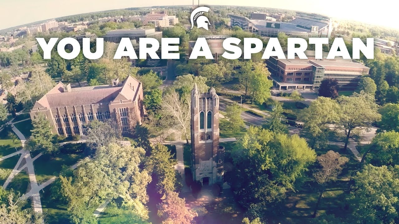 Michigan State Campus >> You Are A Spartan Michigan State University Fall Welcome