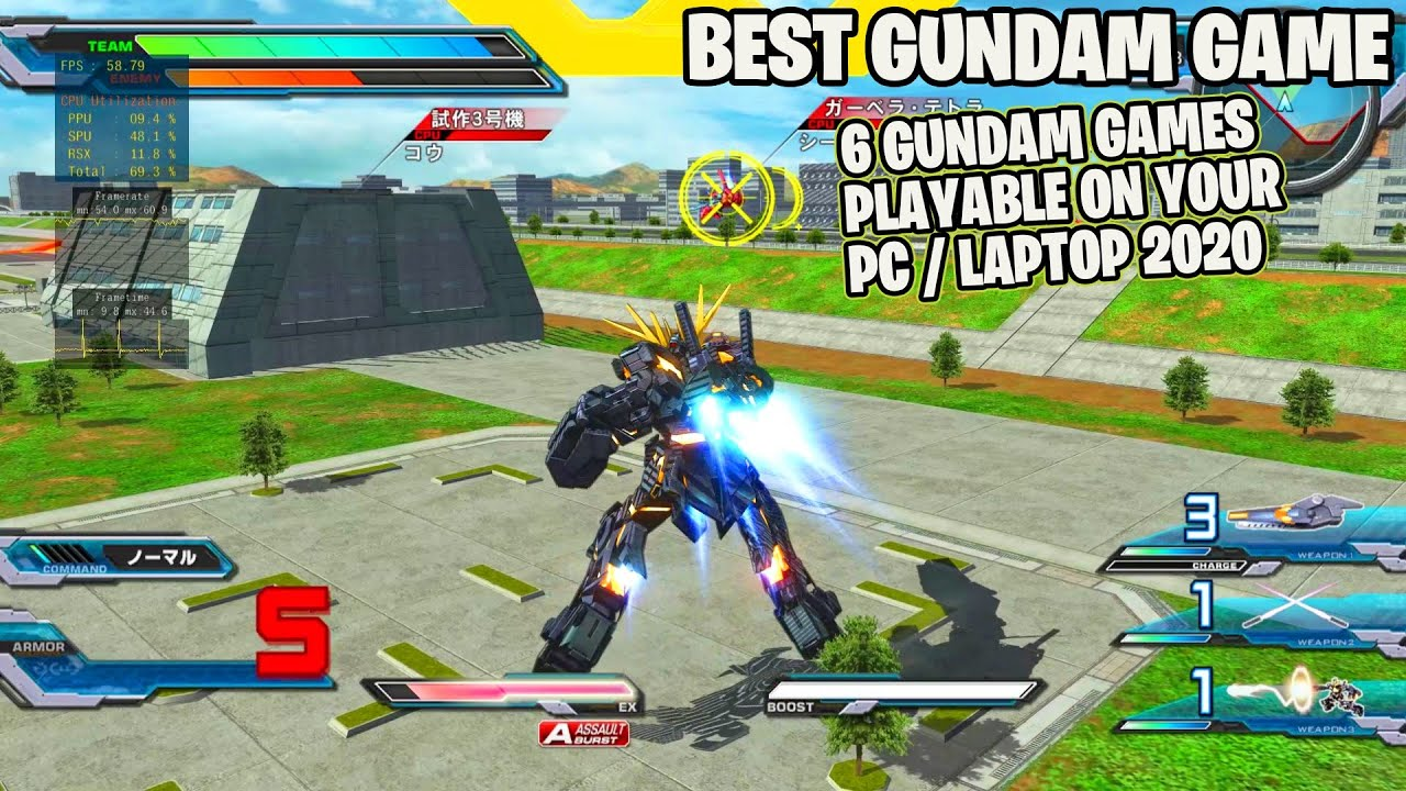 Perfect!! 6 Gundam Games Playable On PC - i5 9600K RPCS3 Rtx 2070 Super - Rtx 2060