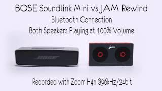 JAM Rewind HX-P540 vs Bose Soundlink Mini Sound Comparison Audio Test