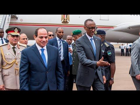 EGYPTIAN PRESIDENT ABDEL FATTAH EL-SISI IN RWANDA
