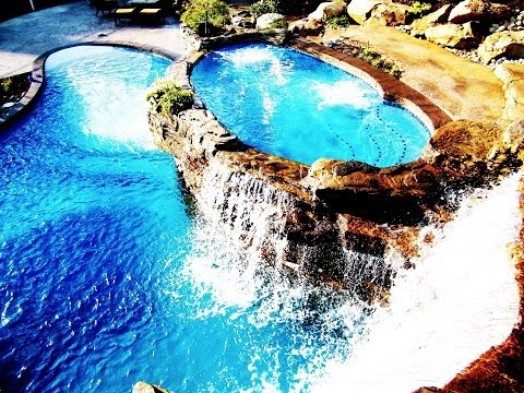 Custom Swimming Pools and Waterfalls by World Class Pools of