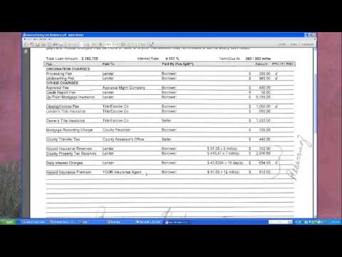 Closing Costs ~ Itemized Explanation - YouTube